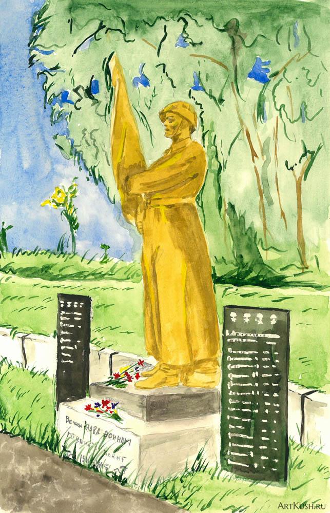 Воин_освободитель на старом кладбище Шымкента_зн