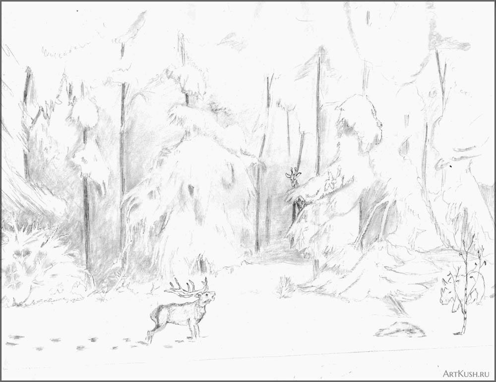 Загадочный зимний лес_зн