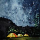 Палатки в ночи