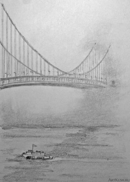 """""""Мост в тумане"""", авт. Кушенов К."""